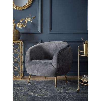 Deep Grey Velvet Tub Chair