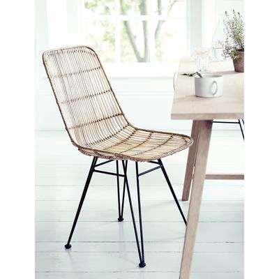 Flat Rattan Dining Chair - Natural