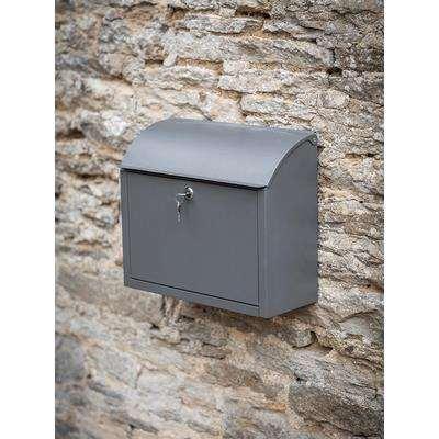 Grey Metal Post Box