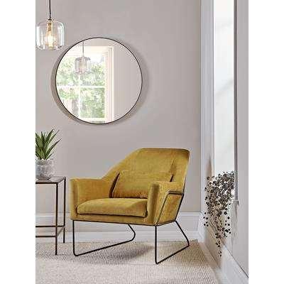 Mustard Velvet Metal Framed Armchair