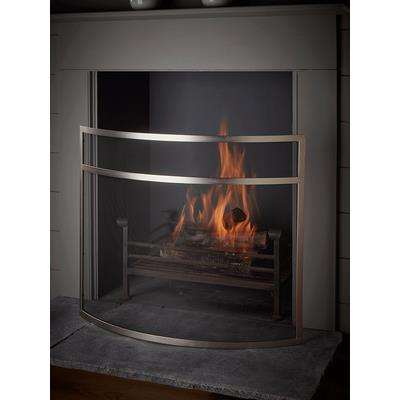 Curved Fire Screen - Silver
