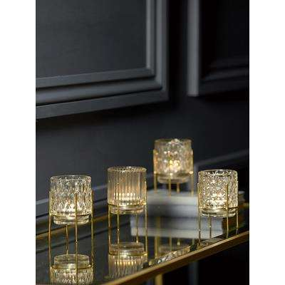 Four Textured Standing Tealight Holders