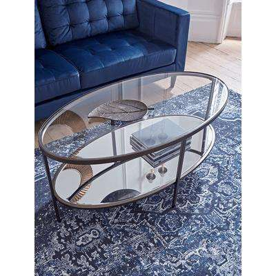 Glass Display Coffee Table - Aged Bronze
