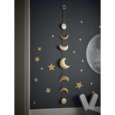 Hammered Brass Moon Garland