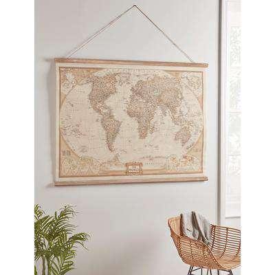 NEW Hanging World Map Wall Art