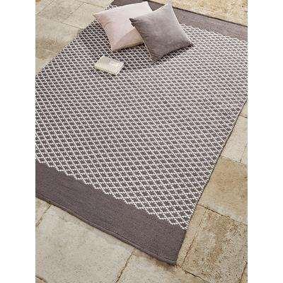 Indoor Outdoor Diamonds Reversible Rug - Grey