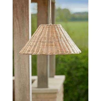 Indoor Outdoor Faux Wicker Pendant