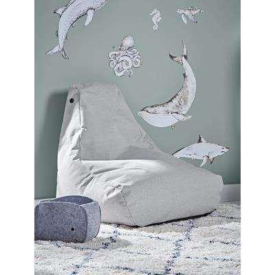 Indoor Outdoor Kids Beanbag - Soft Grey