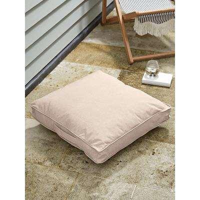 Indoor Outdoor Square Floor Cushion - Soft Blush