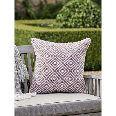 Indoor Outdoor Squares Cushion - Blush