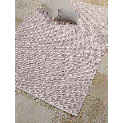 Indoor Outdoor Squares Reversible Rug - Blush