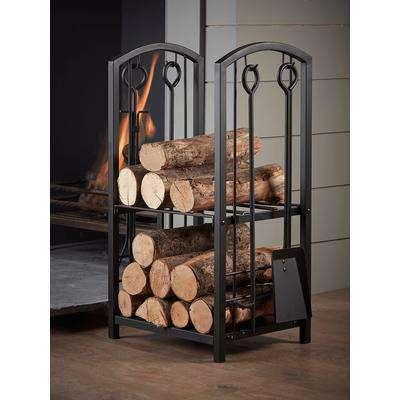 Log Holder & Fire Side Set