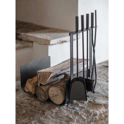 Log Holder & Four Piece Fireside Set