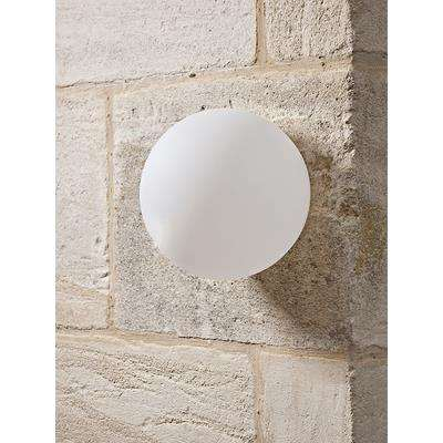 Outdoor Frosted Globe Wall Light