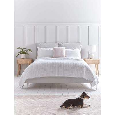 Pillowy Velvet Kingsize Bed - Soft Grey