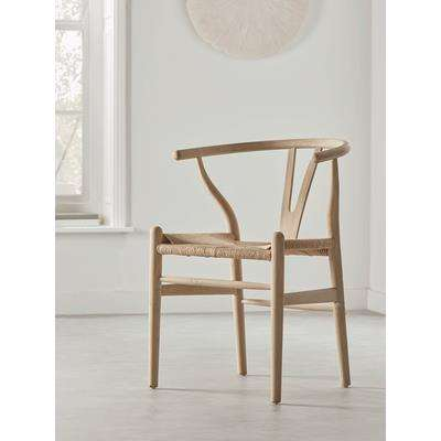 Raw Oak Bow Back Dining Chair