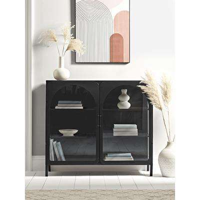 Reeded Glass Arch Display Cabinet