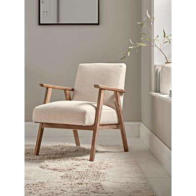 Relaxed Lounge Chair - Natural Linen