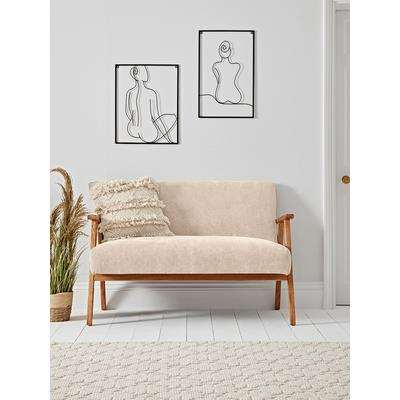 Relaxed Lounge Sofa - Natural Linen