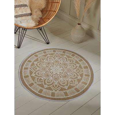 Round Mandala Rug - Starburst