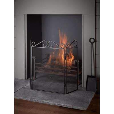 Scroll Topped Fire Screen