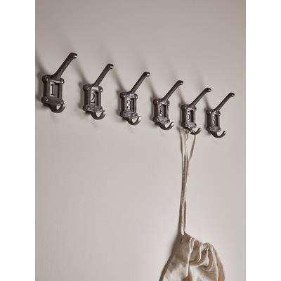 Six Ceramic Insert Coat Hook