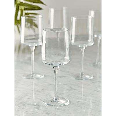 Six Delicate Wine Glasses