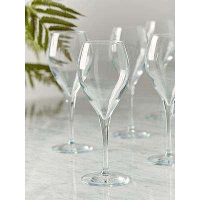 Six Teardrop Wine Glasses
