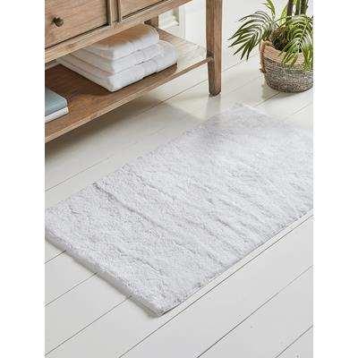 Textured Bath Mat - White