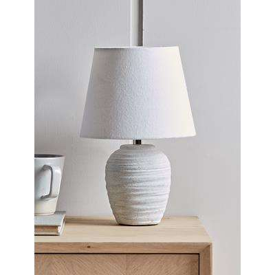 Whitewashed Concrete Effect Table Lamp