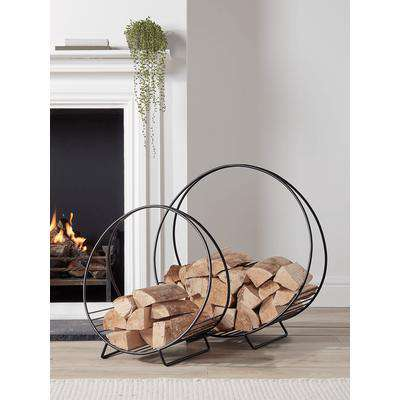 NEW Two Round Log Holders