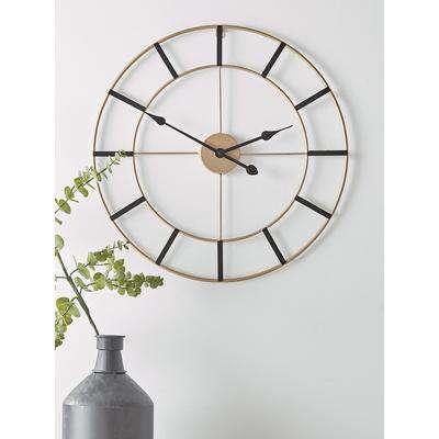 NEW Black & Gold Wall Clock