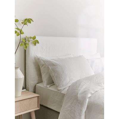 White Washed Linen Replacement Headboard Cover - Kingsize
