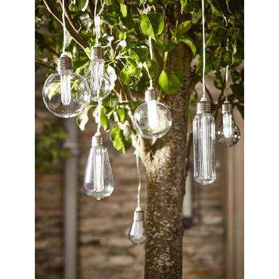 Solar Vintage Style Bulb String Lights