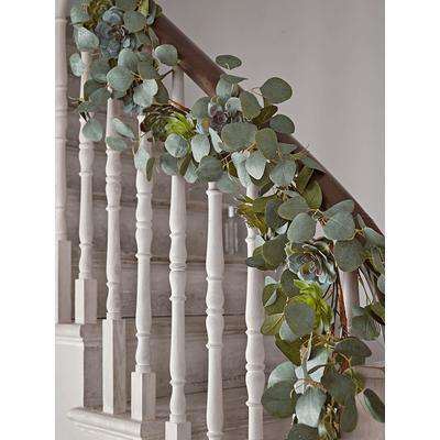 Succulent & Eucalyptus Garland