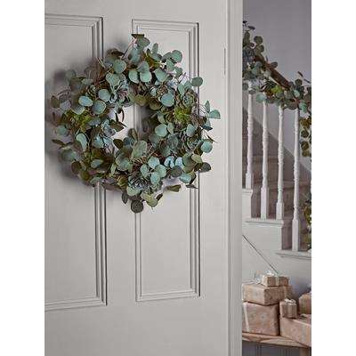 Succulent & Eucalyptus Wreath