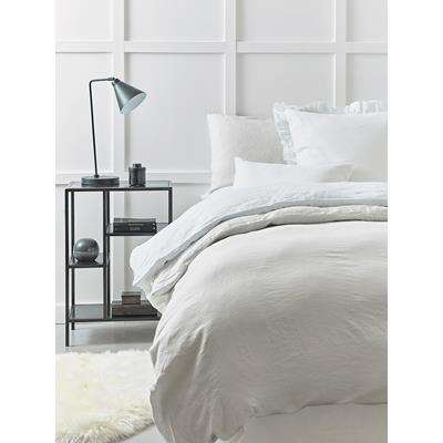 Washed Linen Double Duvet Cover - Soft Grey