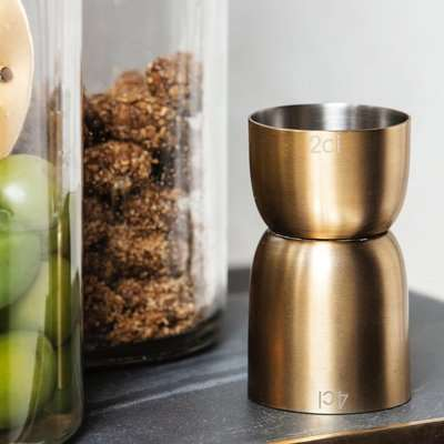 Brass Cocktail Measuring Cup
