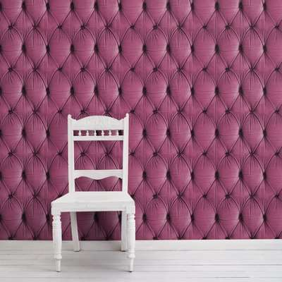 Chesterfield Wallpaper (colour: Pink)