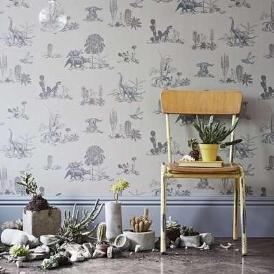 Dino Wallpaper (colour: Grey)