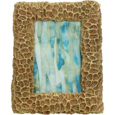 Golden Faux Coral Photo Frame