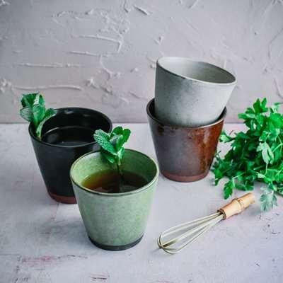 Haiku Stoneware Cupping Mug Set of 4