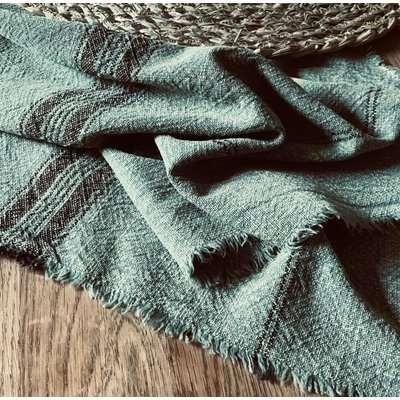Sage Green Striped Tea Towel