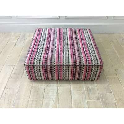Alice footstool in pink and grey check