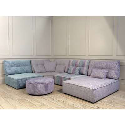 Alice Modular Corner Sofa in Patterned Chenille