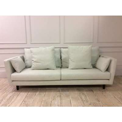 Amy large sofa & Chair in FAMILY FRIENDLY LINEN BLEND - MINERAL 003