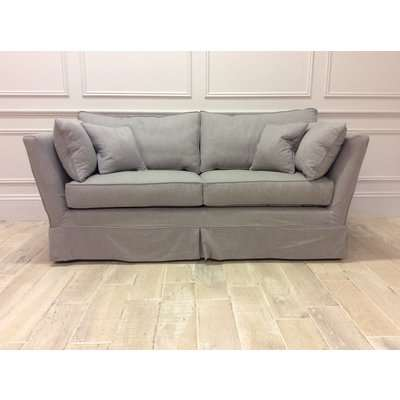 Charlie Medium Sofa in Family Friendly Linen Blend - Grey 029