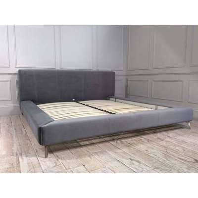 Coates Super King Bed Frame in Velvet Silver