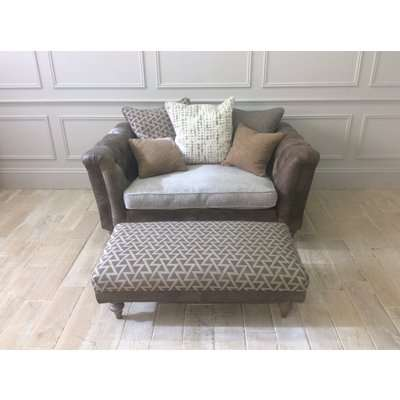 Dorset love seat scatter back with footstool