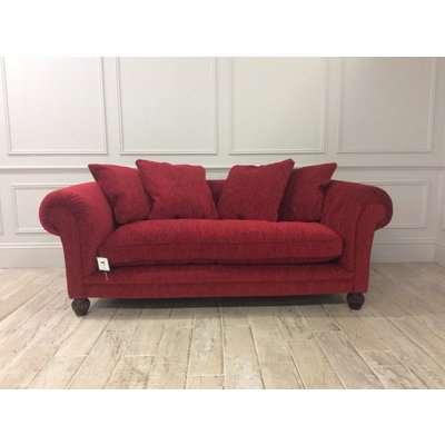 Edinburgh Midi Sofa in Regent Chenille Scarlet